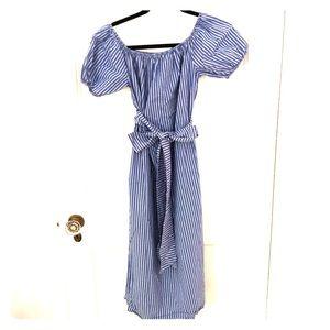 Zara midi dress with tie